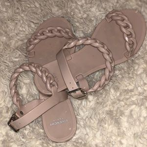 Givenchy rubber chain sandals- Nude pink  35 US 5